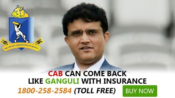 Sourav's defiance couldn't save CAB's loss, but Insurance could